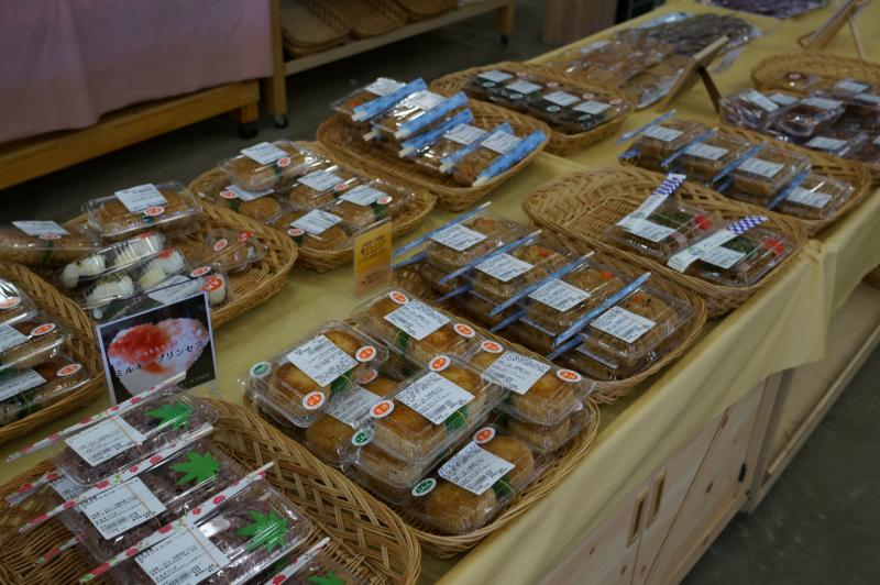 直売所のお惣菜コーナー