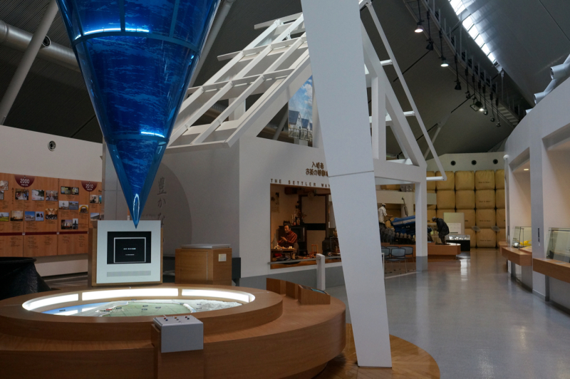 大潟村干拓博物館の館内